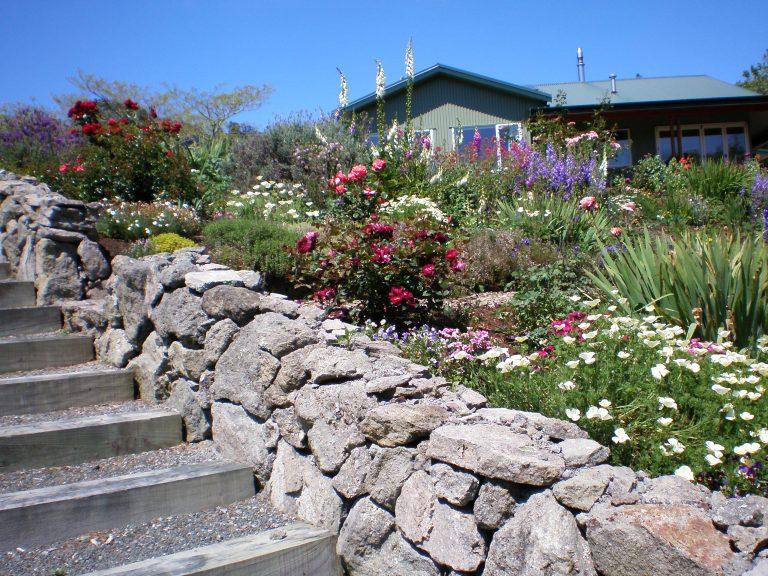 Garden outside lodge house